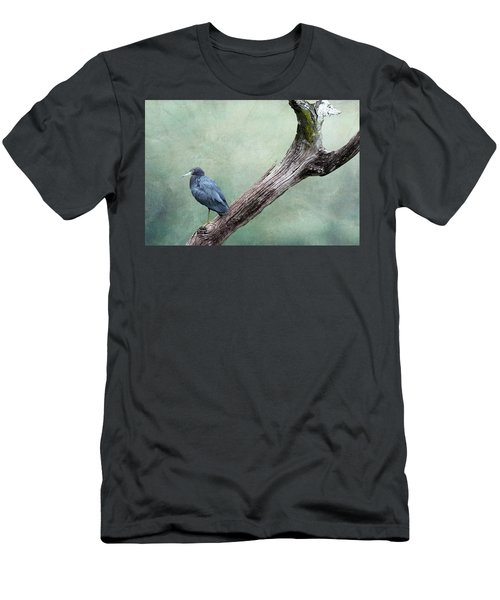 Little Blue Heron On Green Men's T-Shirt (Athletic Fit)