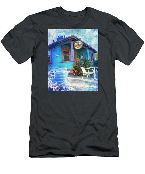 Little House Cafe  Men's T-Shirt (Slim Fit) by Linda Weinstock