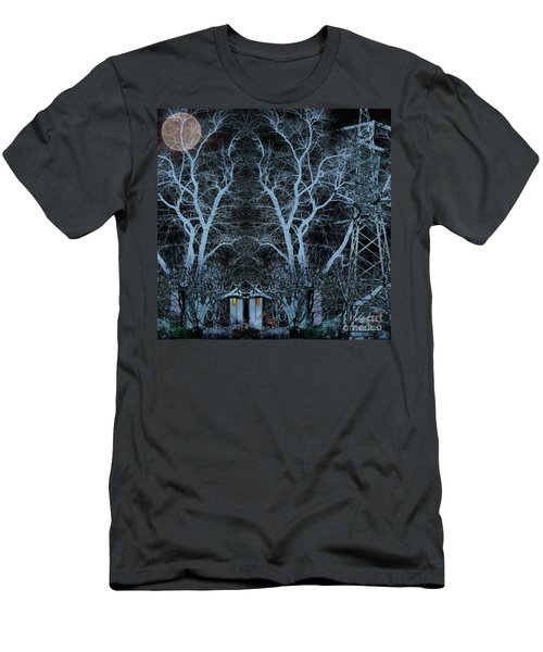 Little House In The Woods Men's T-Shirt (Athletic Fit)