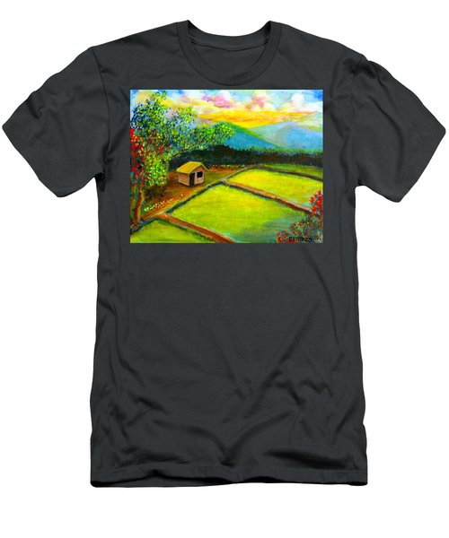 Little Hut In The Farm Men's T-Shirt (Athletic Fit)