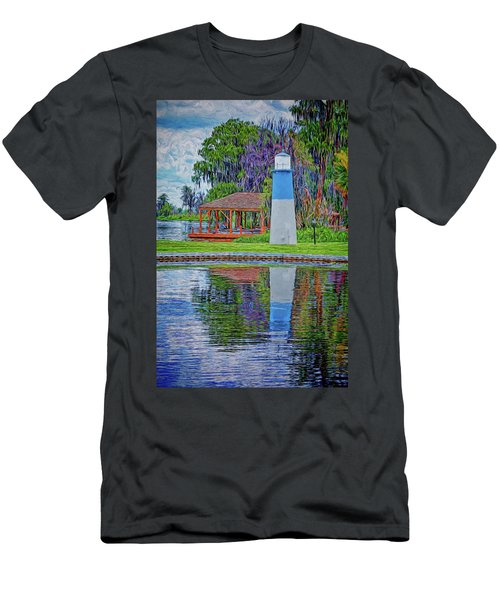 Men's T-Shirt (Athletic Fit) featuring the photograph Little Lake Lightouse by Lewis Mann