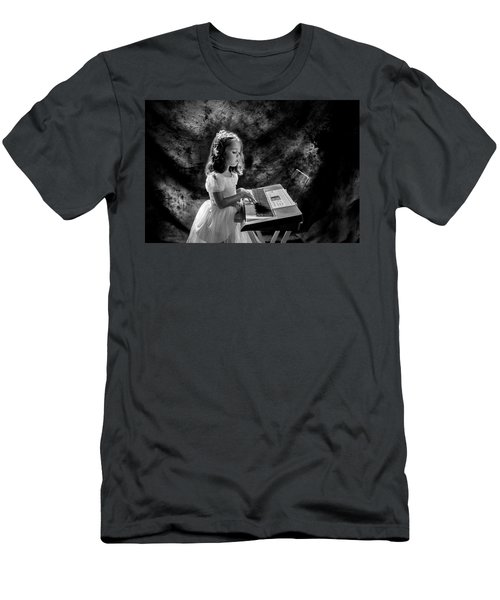 Little Musician Men's T-Shirt (Slim Fit) by Kevin Cable