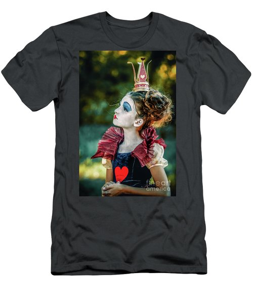 Men's T-Shirt (Athletic Fit) featuring the photograph Little Princess Of Hearts Alice In Wonderland by Dimitar Hristov