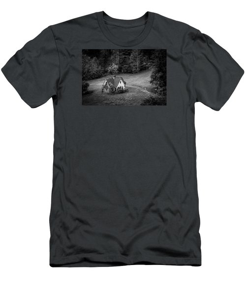 Men's T-Shirt (Slim Fit) featuring the photograph Little Victorian House In The Mountains by Kelly Hazel