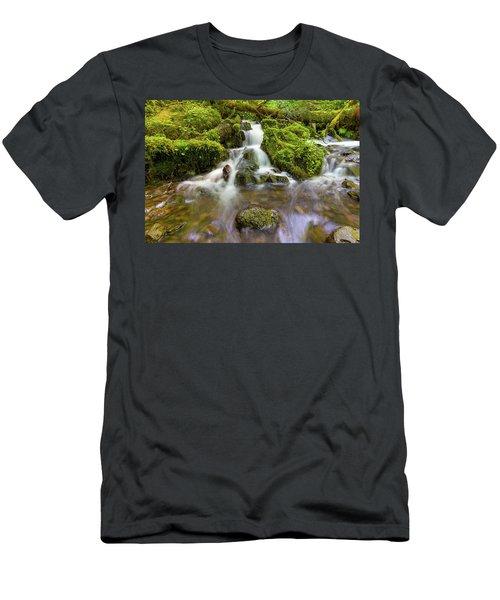 Little Waterfalls Along Wahkeena Creek Men's T-Shirt (Athletic Fit)