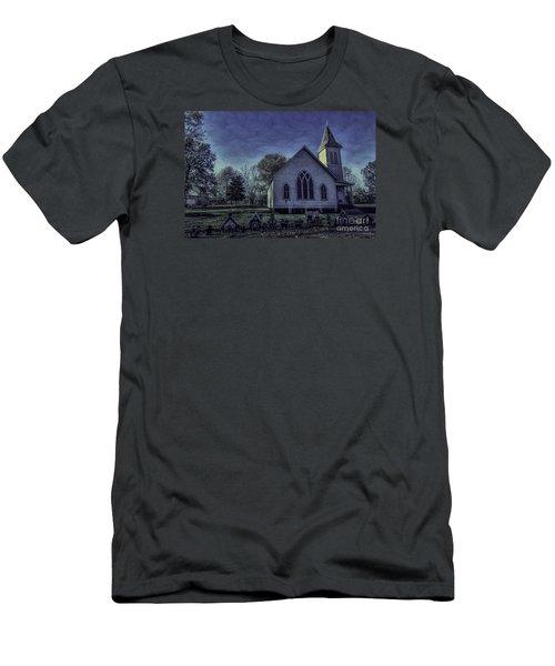 Little White Church Men's T-Shirt (Slim Fit) by Ken Frischkorn