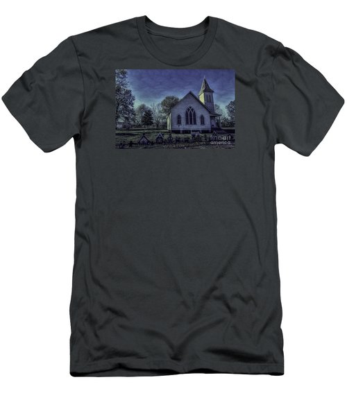 Little White Church Men's T-Shirt (Athletic Fit)