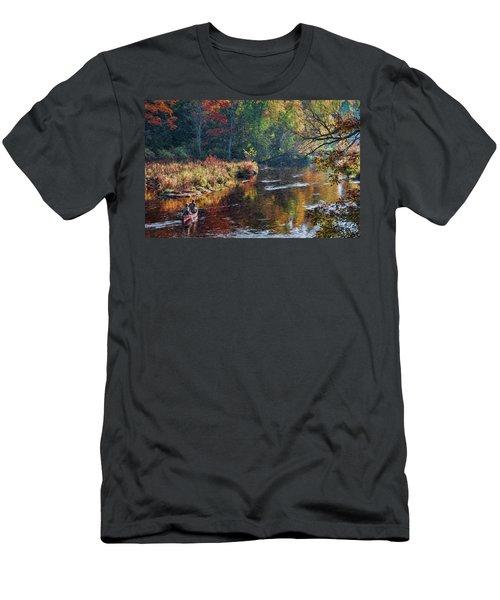 Little Wolf Canoist Men's T-Shirt (Athletic Fit)