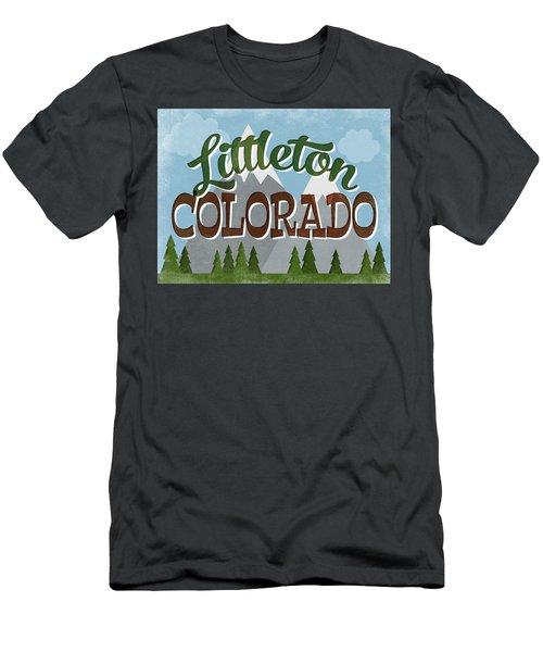Littleton Colorado Snowy Mountains Men's T-Shirt (Athletic Fit)