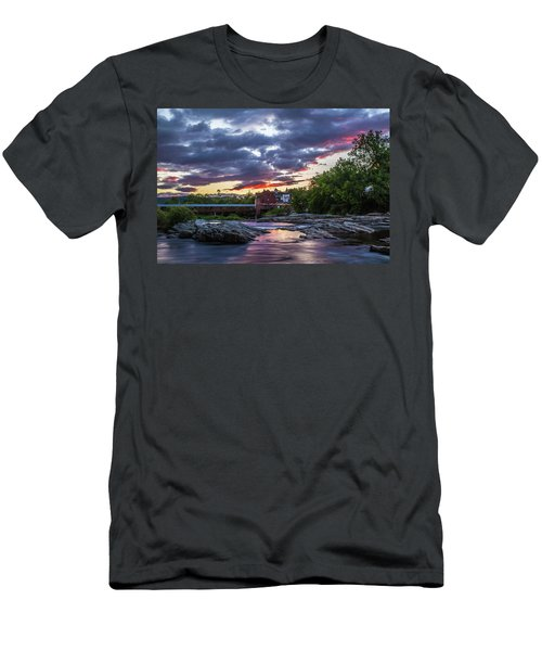 Littleton Sunset On The Rocks Men's T-Shirt (Athletic Fit)