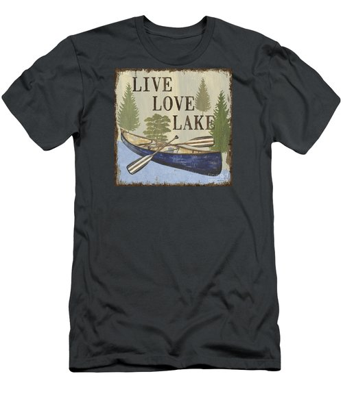 Live, Love Lake Men's T-Shirt (Athletic Fit)