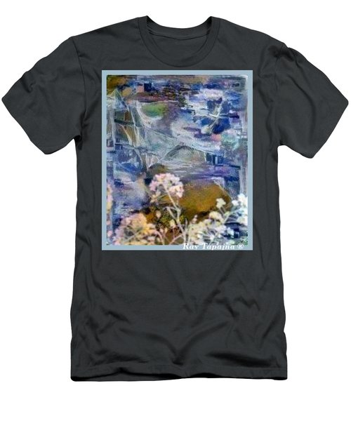 Men's T-Shirt (Slim Fit) featuring the mixed media Living It by Ray Tapajna