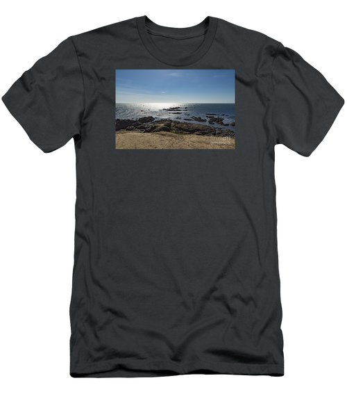 Lizard Point Cornwall Men's T-Shirt (Slim Fit) by Brian Roscorla