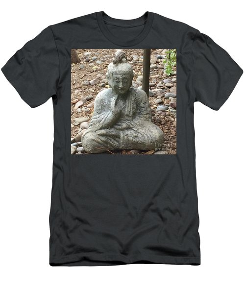 Men's T-Shirt (Slim Fit) featuring the painting Lizard Zen by Kim Nelson