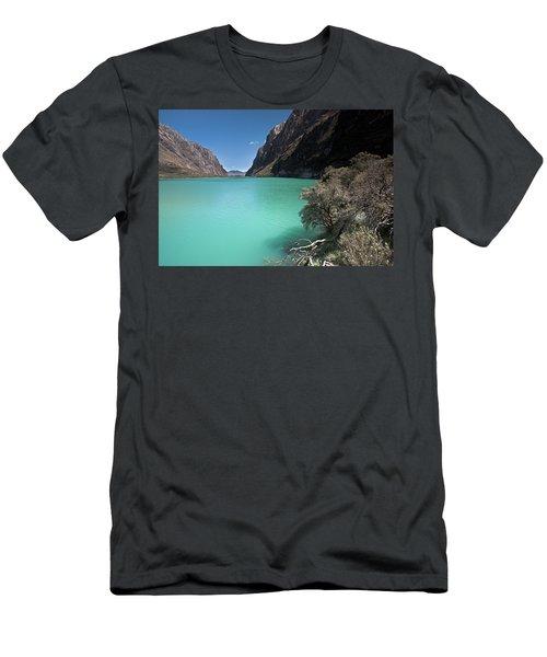 Llanganuco Lakes In Cordillera Blanca Men's T-Shirt (Athletic Fit)