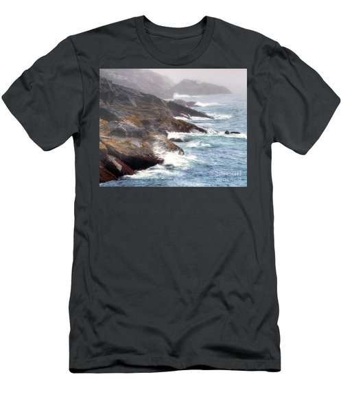Men's T-Shirt (Slim Fit) featuring the photograph Lobster Cove by Tom Cameron
