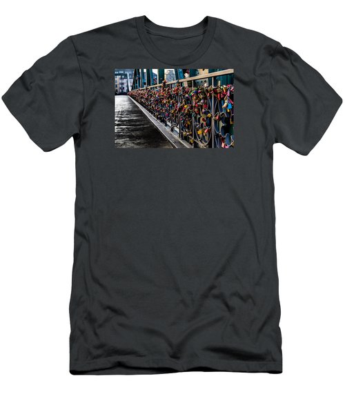 Locks Of Lock Bridge Men's T-Shirt (Athletic Fit)