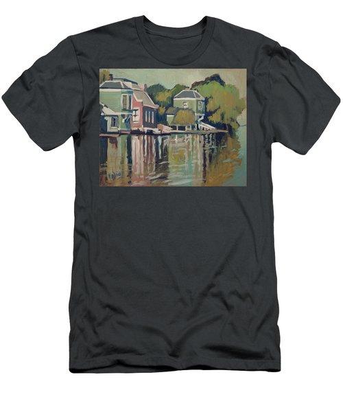 Lofts Along The River Zaan In Zaandam Men's T-Shirt (Slim Fit) by Nop Briex