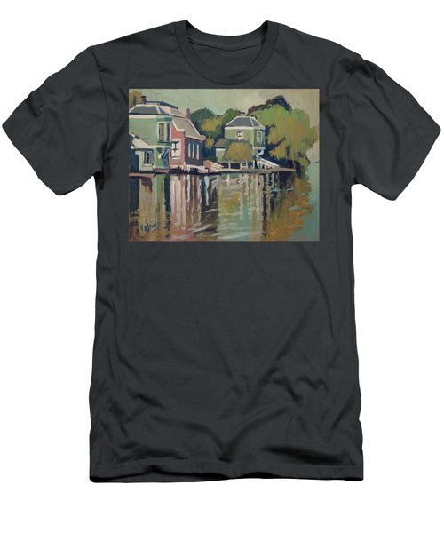 Lofts Along The River Zaan In Zaandam Men's T-Shirt (Athletic Fit)
