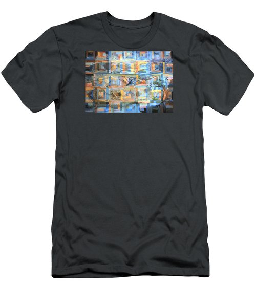Log Cabin Quilt Men's T-Shirt (Slim Fit) by Dawn Senior-Trask