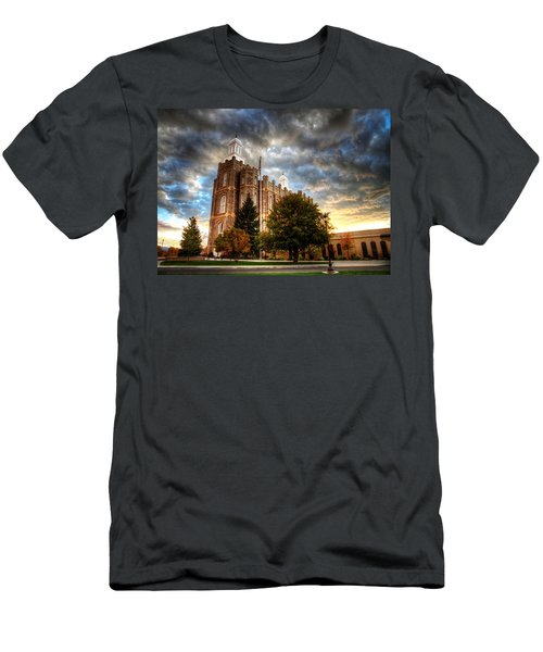 Logan Temple Cloud Backdrop Men's T-Shirt (Athletic Fit)