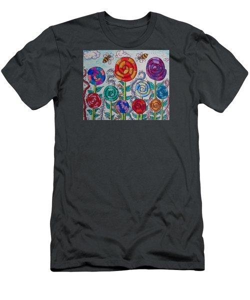 Lollipop Garden Men's T-Shirt (Slim Fit) by Megan Walsh