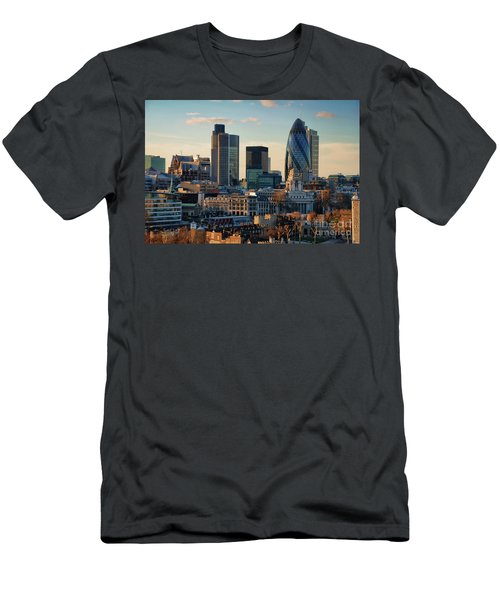 Men's T-Shirt (Slim Fit) featuring the photograph London City Of Contrasts by Lois Bryan