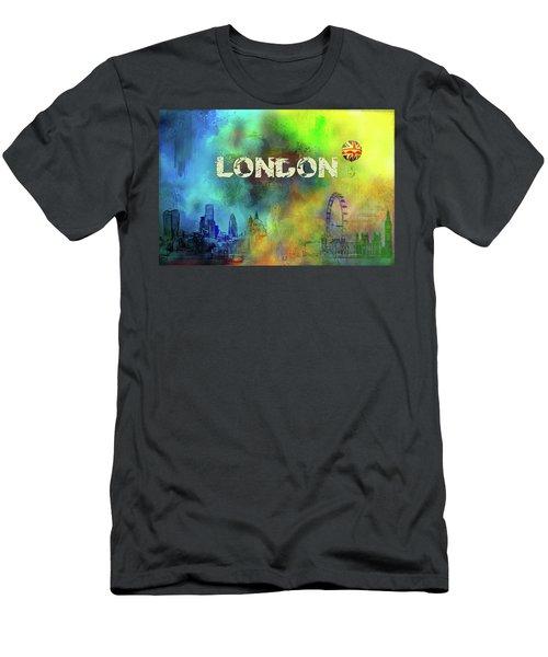 London - Skyline Men's T-Shirt (Athletic Fit)