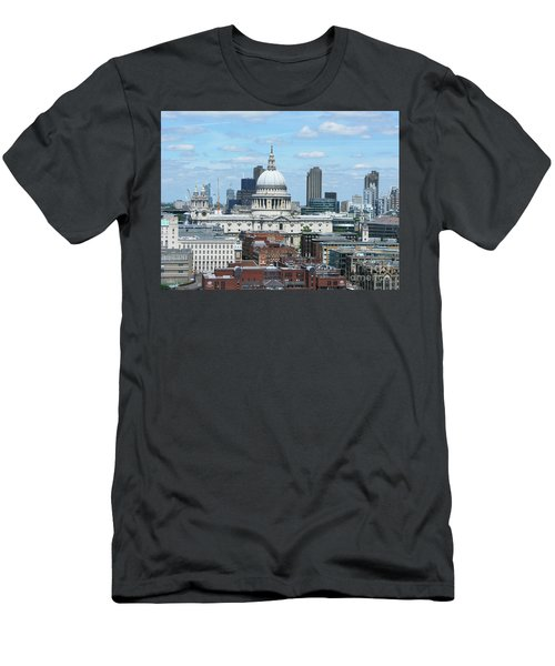 London Skyscrape - St. Paul's Men's T-Shirt (Slim Fit) by Mini Arora