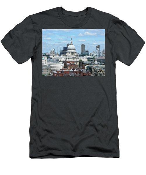London Skyscrape - St. Paul's Men's T-Shirt (Athletic Fit)