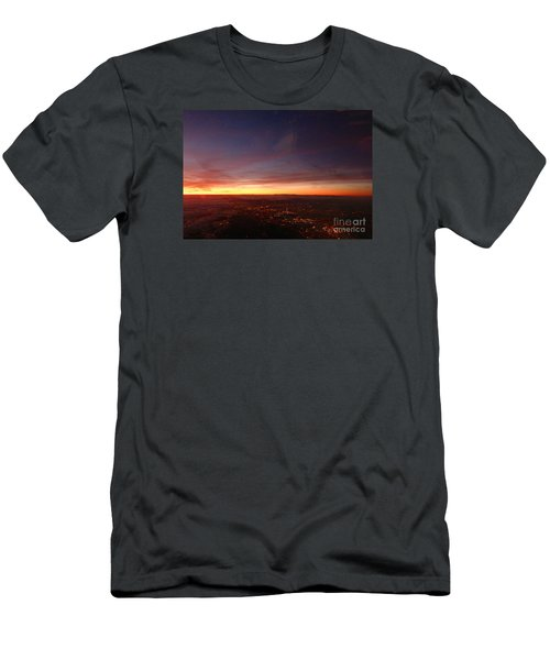 Men's T-Shirt (Slim Fit) featuring the photograph London Sunset by AmaS Art