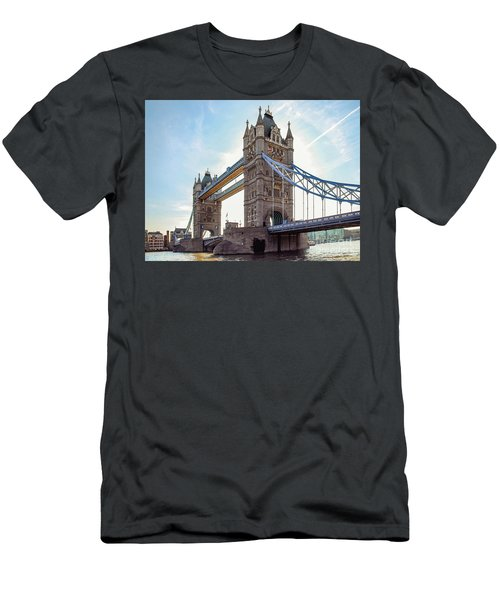 Men's T-Shirt (Slim Fit) featuring the photograph London - The Majestic Tower Bridge by Hannes Cmarits