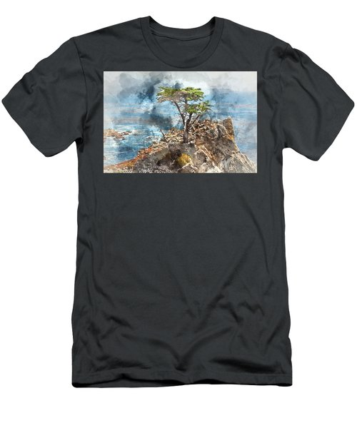 Lone Cypress In Monterey California Men's T-Shirt (Athletic Fit)