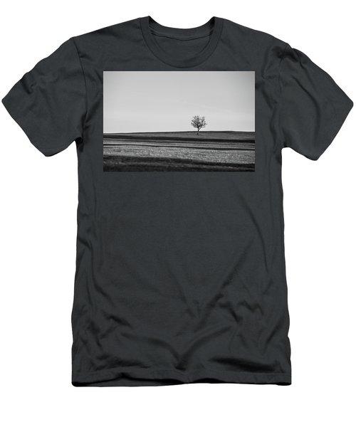 Lone Hawthorn Tree Iv Men's T-Shirt (Slim Fit) by Helen Northcott