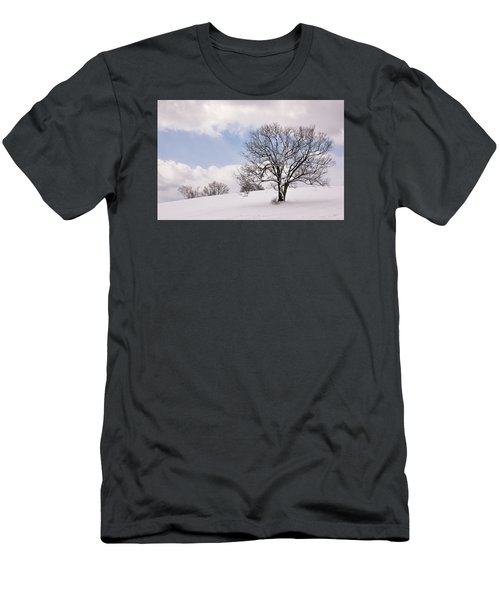 Lone Tree In Snow Men's T-Shirt (Slim Fit) by Betty Denise