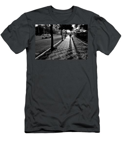 Lonely Man Walking At Dusk In Sao Paulo Men's T-Shirt (Athletic Fit)
