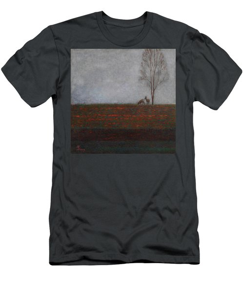 Lonely Tree With Two Roes Men's T-Shirt (Athletic Fit)