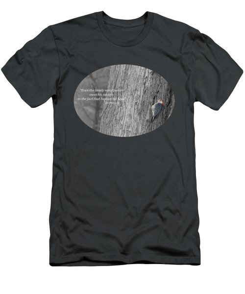 Lonely Woodpecker Men's T-Shirt (Athletic Fit)
