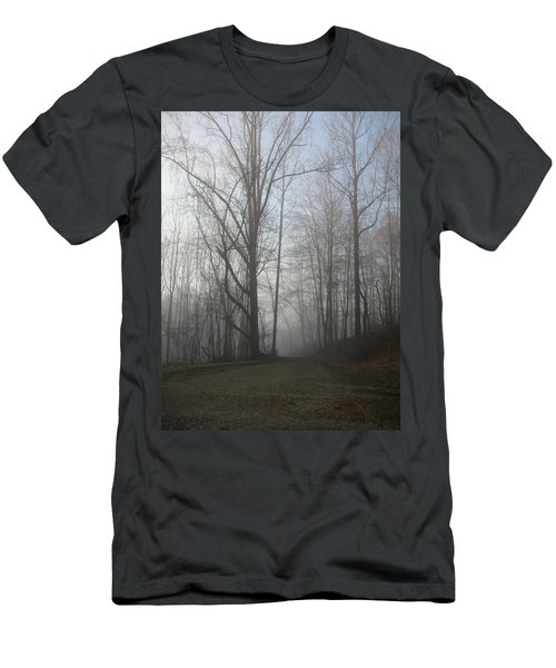 Men's T-Shirt (Slim Fit) featuring the photograph Lonesome Road by Cynthia Lassiter