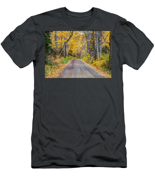 Long And Winding Autumn Roads North Shore Minnesota Men's T-Shirt (Athletic Fit)