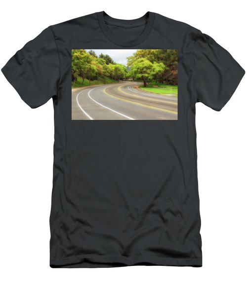 Long And Winding Road Men's T-Shirt (Athletic Fit)