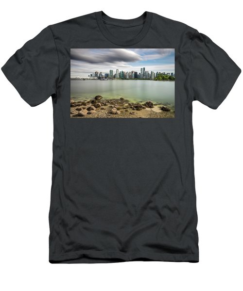 Long Exposure Of Vancouver City Men's T-Shirt (Slim Fit) by Pierre Leclerc Photography