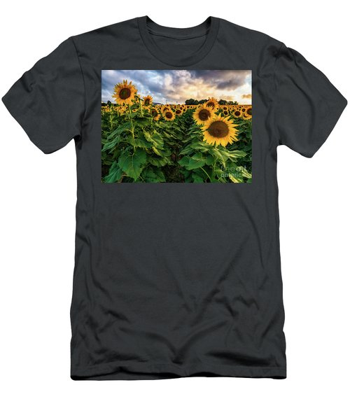 Long Island Sunflowers  Men's T-Shirt (Athletic Fit)