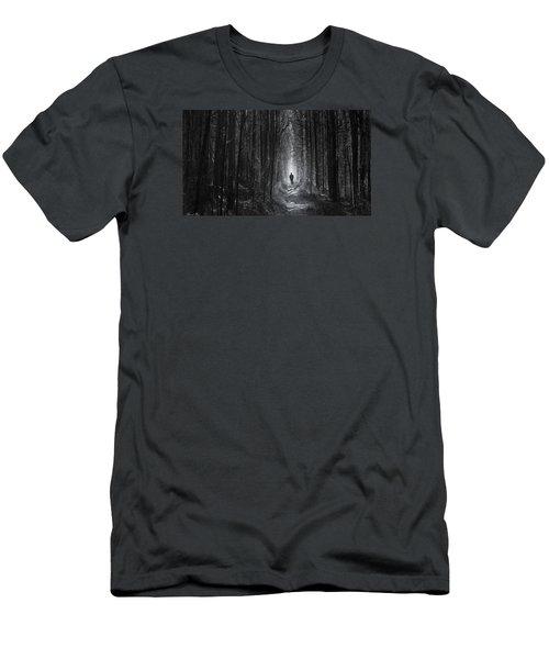 Men's T-Shirt (Slim Fit) featuring the photograph Long Way Home by Bernd Hau