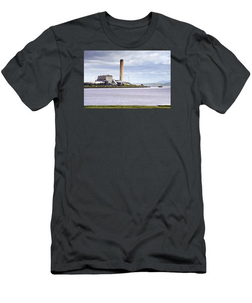 Men's T-Shirt (Slim Fit) featuring the photograph Longannet Power Station by Jeremy Lavender Photography