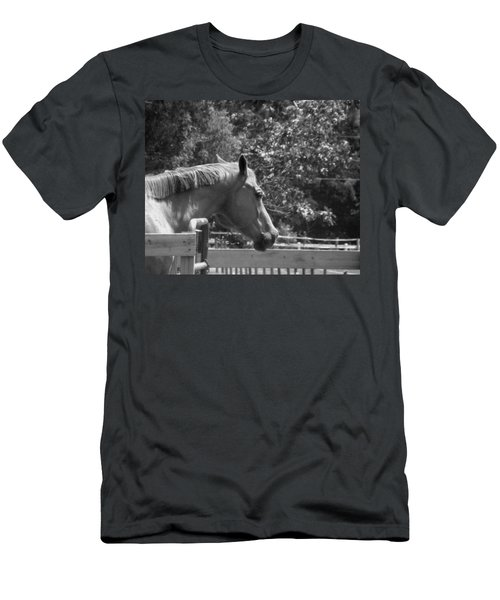 Men's T-Shirt (Slim Fit) featuring the photograph Longing by Sandi OReilly