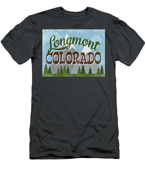 Longmont Colorado Snowy Mountains Men's T-Shirt (Athletic Fit)