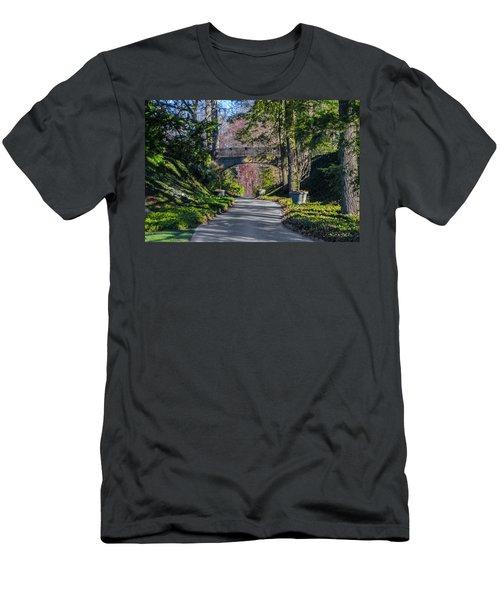 Longwood Gardens - Bridge Over Path Men's T-Shirt (Athletic Fit)