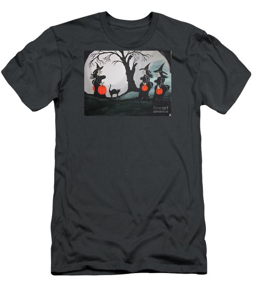 Men's T-Shirt (Slim Fit) featuring the painting Look At The Size Of Her Pumpkins by Jeffrey Koss