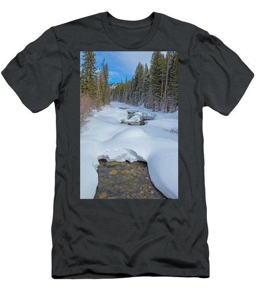 Looking Down The Elk Men's T-Shirt (Slim Fit) by Sean Allen